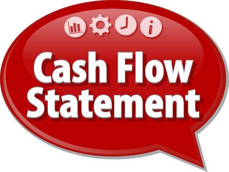 cash flow statement: Blank business strategy concept infographic diagram illustration Cash Flow Statement Stock Photo