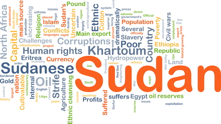 strife: Background concept wordcloud illustration of Sudan