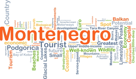 Background concept wordcloud illustration of Montenegro