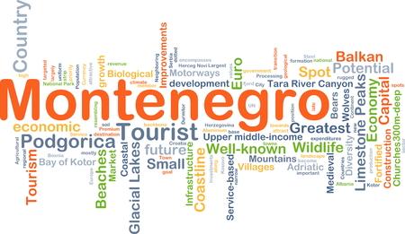 Background concept wordcloud illustration of Montenegro
