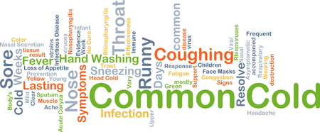 in common: Background concept wordcloud illustration of common cold