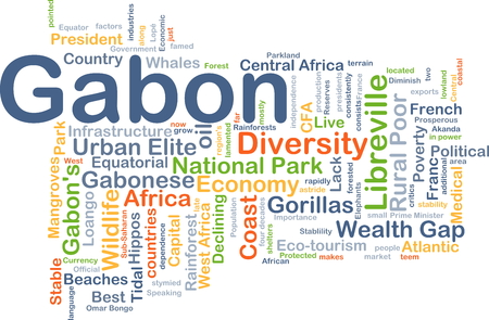 french countryside: Background concept wordcloud illustration of Gabon