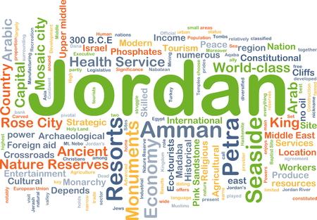 Background concept wordcloud illustration of Jordan