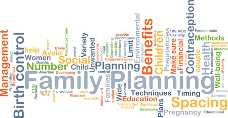 family planning: Background concept wordcloud illustration of family planning