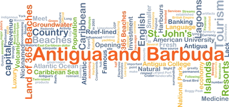 antigua barbuda: Background concept wordcloud illustration of Antigua and Barbuda