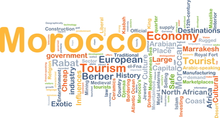 berber: Background concept wordcloud illustration of Morocco
