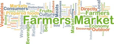 carnes y verduras: Background concept wordcloud illustration of farmer market