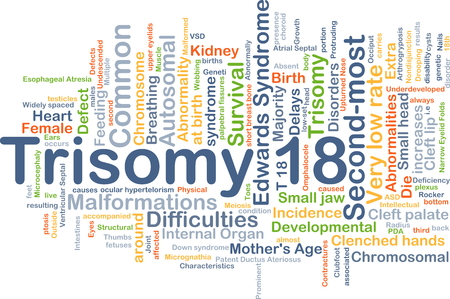 developmental: Background concept wordcloud illustration of trisomy 18