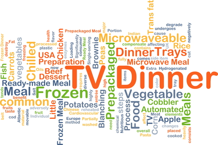 readymade: Background concept wordcloud illustration of TV dinner