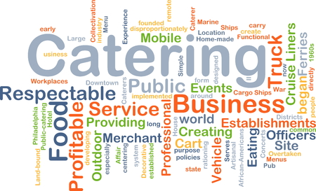 respectable: Background concept wordcloud illustration of catering
