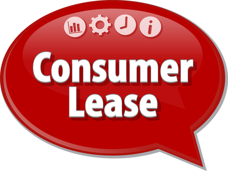 househould: Blank business strategy concept infographic diagram illustration Consumer Lease