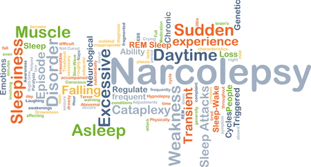 sleepiness: Background concept wordcloud illustration of narcolepsy