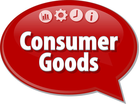 consumer goods: Blank business strategy concept infographic diagram illustration Consumer Goods Stock Photo