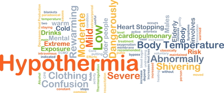Background concept wordcloud illustration of hypothermia