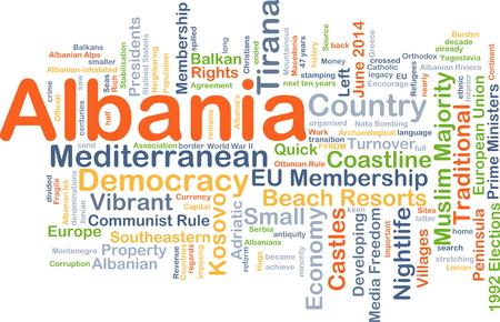 majority: Background concept wordcloud illustration of Albania