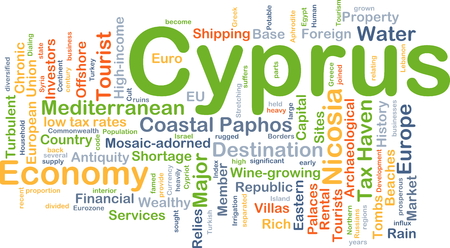 antiquity: Background concept wordcloud illustration of Cyprus