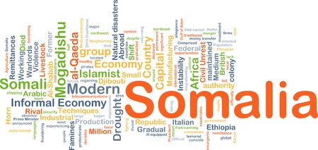 remittances: Background concept wordcloud illustration of Somalia