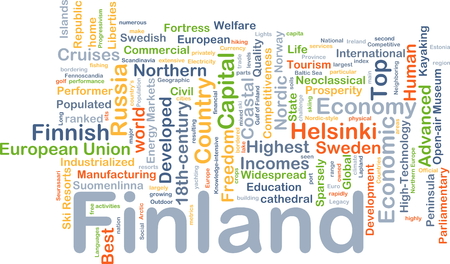 liberties: Background concept wordcloud illustration of Finland