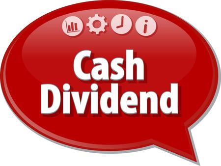 dividend: Blank business strategy concept infographic diagram illustration Cash Dividend