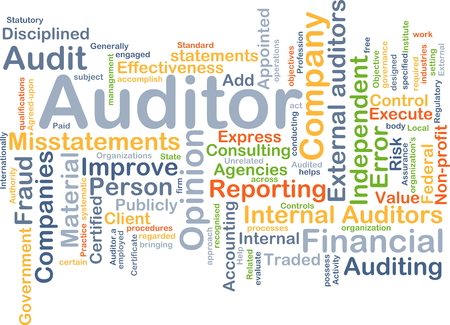 auditors: Background concept wordcloud illustration of auditor
