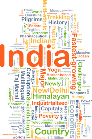 industrialized country: Background concept wordcloud illustration of India