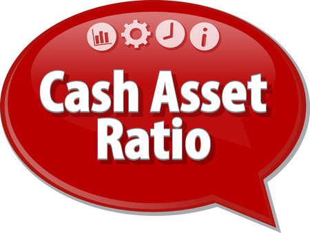 liquidity: Blank business strategy concept infographic diagram illustration Cash Asset Ratio