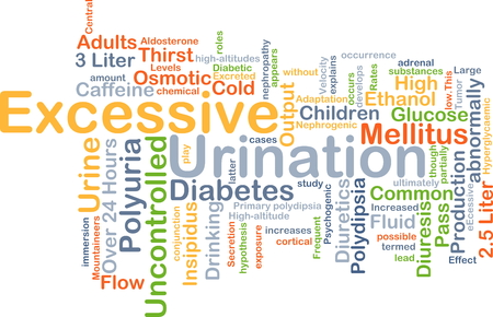 osmotic: Background concept wordcloud illustration of excessive urination Stock Photo