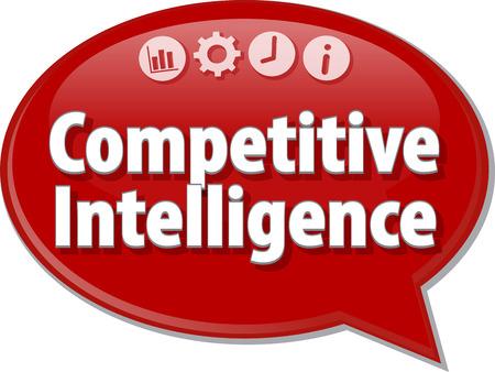 inteligencia: ilustraci�n de di�logo burbuja del discurso del t�rmino de negocios diciendo Inteligencia Competitiva