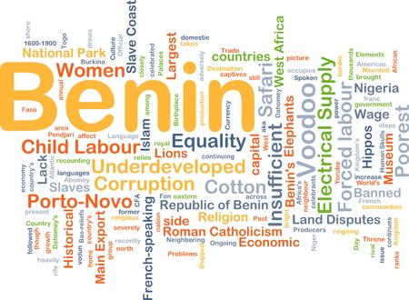 Background concept wordcloud illustration of Benin