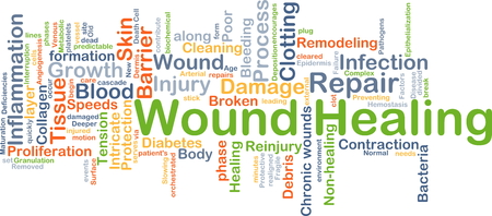 healing process: Background concept wordcloud illustration of wound healing