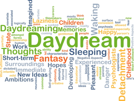 daydream: Background concept wordcloud illustration of daydream Stock Photo