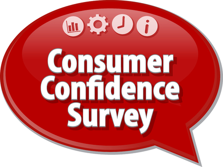 consumer: Blank business strategy concept infographic diagram illustration Consumer Confidence Survey