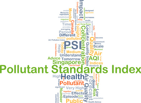 standards: Background concept wordcloud illustration of pollutant standards index PSI