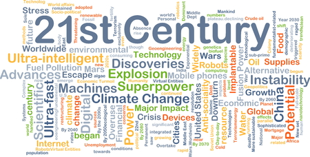 overuse: Background concept wordcloud illustration of 21st century