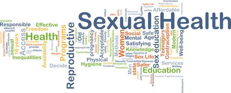 Achtergrond concept wordcloud illustratie van de seksuele gezondheid