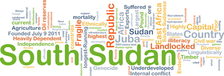illiteracy: Background concept wordcloud illustration of South Sudan