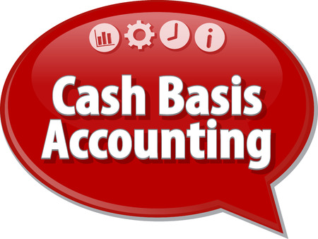 cash: Blank business strategy concept infographic diagram illustration Cash Basis Accounting Stock Photo