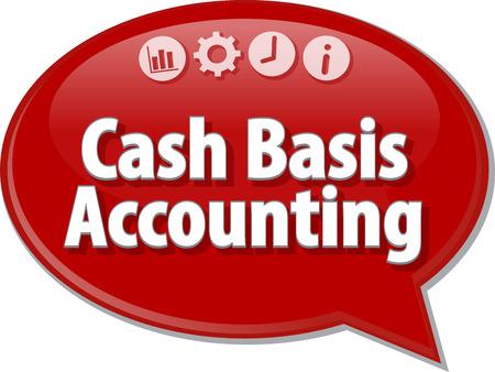 Lege bedrijfsstrategie concept infographic diagram illustratie Cash Basis Accounting