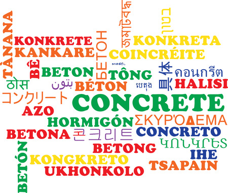 Achtergrond concept wordcloud meertalige internationale vele talen illustratie van beton