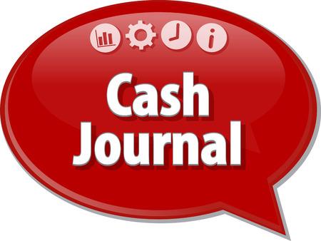 ledger: Blank business strategy concept infographic diagram illustration Cash Journal