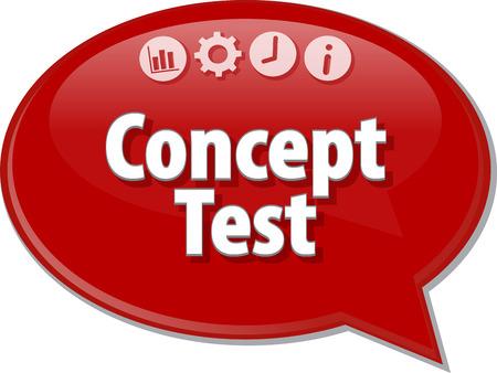 Speech bubble dialoog illustratie van zakelijke term te zeggen Concept Test