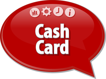 Blank business strategy concept infographic diagram illustration Cash Card Stock Photo