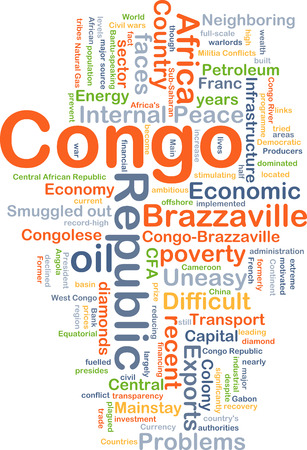 uneasy: Background concept wordcloud illustration of Congo Republic Stock Photo