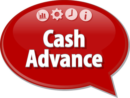 Blank business strategie concept van infographic diagramillustratie Cash Advance