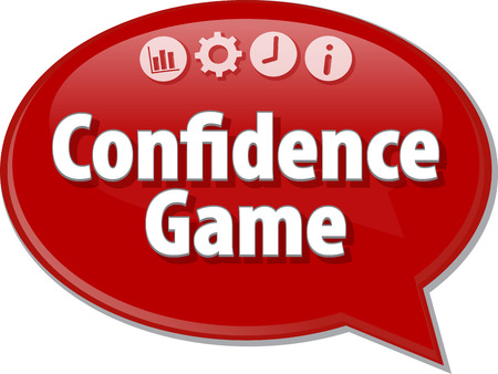Blank business strategie concept van infographic diagramillustratie Confidence Game
