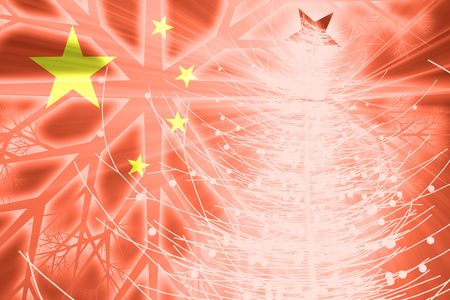 Flag of China, national symbol illustration clipart christmas holidays season