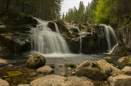 krkonose: Small elbes waterfall in Krkonose mountains (Czech Republic)