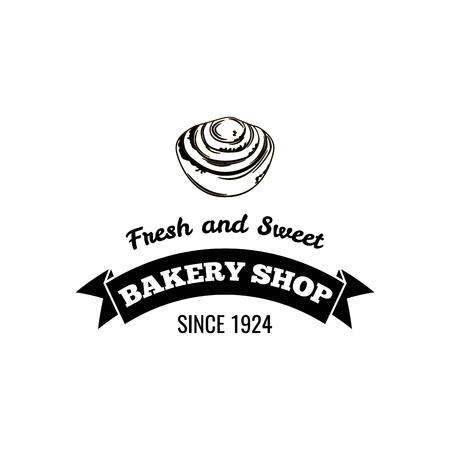 パン屋さん。新鮮で甘い。バッジ ベクトル イラスト分離されました。