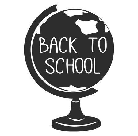 globe terrestre dessin: Back To School. Globe. Earth model. Vector illustration. Isolated on White Background