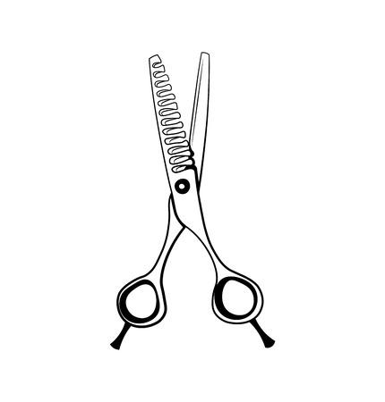 Scissors Hairdresser. Barber. Beauty Industry Design Elements Vector Illustration Isolated On White Background